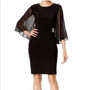 MSK Illusion Angel Sleeve Embellished Dress NWT